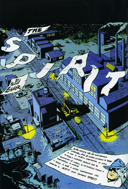 La splash page col titolo The Spirit